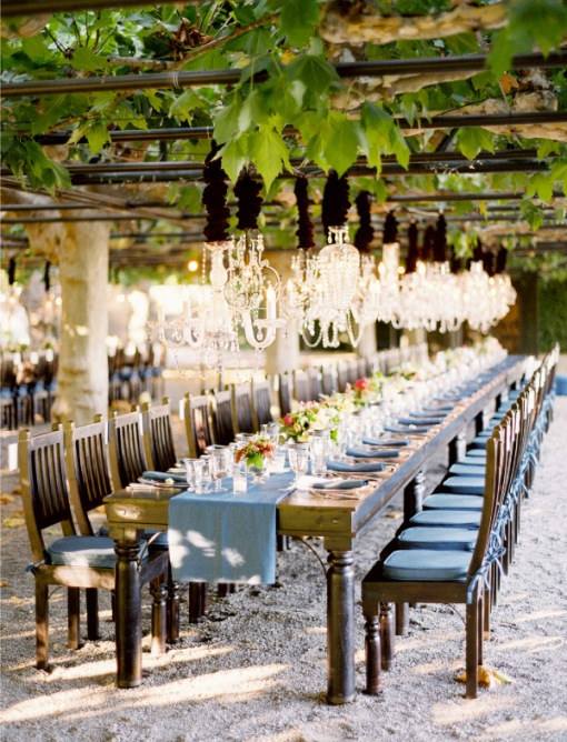 chandelier vineyard napa wedding