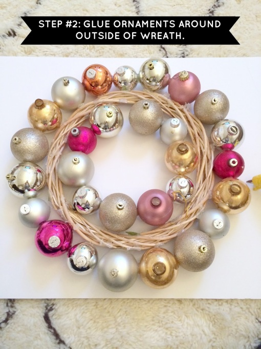 HOW TO MAKE AN ORNAMENT WREATH STEP 2